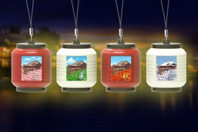 光る提灯清水寺